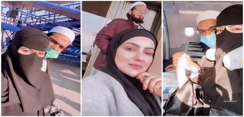 Sana Khan Kashmir honeymoon photos